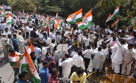 Editorial photo of Delhi Pradesh Congress Committee Protest Against New Excise Policy Of Delhi Government, New Delhi, DLI, India - 24 Mar 2021