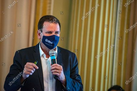 Stock Picture of The Mayor of Rio Eduardo Paes announces an emergency financial aid package for the most needy part of the population on March 24, 2021.