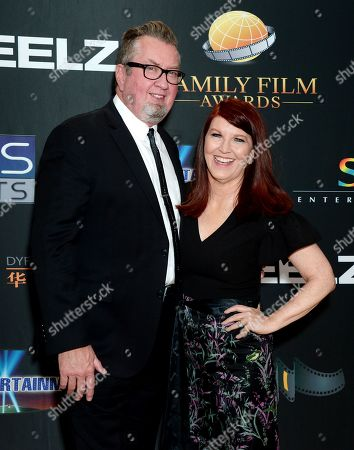 Kate Flannery and husband Chris Haston