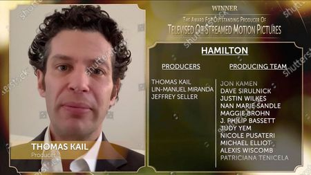 """Thomas Kail addresses at the 32nd Annual PGA Awards for """"Hamilton"""" presented by General Motors on"""