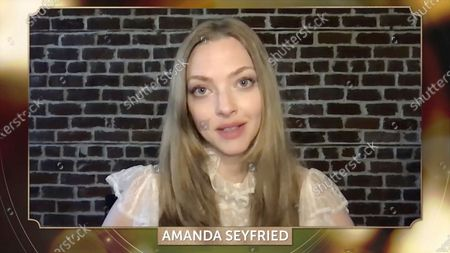 """Amanda Seyfried presents on behalf of or """"Mank"""" at the 32nd Annual PGA Awards presented by General Motors on"""