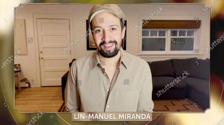 Lin-Manuel Miranda presents the Danny Thomas award for Outstanding Producer of Episodic Television - Comedy at the 32nd Annual PGA Awards presented by General Motors on