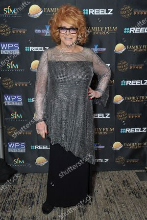Ann-Margret poses backstage at the 24th Family Film Awards at Universal Hilton Hotel, in Los Angeles
