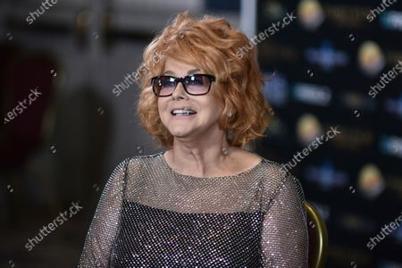 Stock Picture of Ann-Margret poses backstage at the 24th Family Film Awards at Universal Hilton Hotel, in Los Angeles