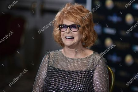 Stock Image of Ann-Margret poses backstage at the 24th Family Film Awards at Universal Hilton Hotel, in Los Angeles