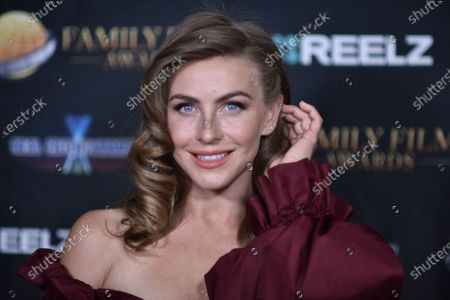 Julianne Hough poses backstage at the 24th Family Film Awards at Universal Hilton Hotel, in Los Angeles