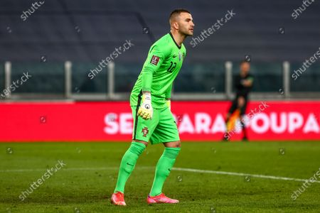 Anthony Lopes of Portugal during the FIFA World Cup European qualifiers Quatar 2022 (Group A) match between Portugal and Azerbaijan  at Juventus Stadium on March 24, 2021 in Turin, Italy.