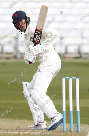 Keaton Jennings of Lancashire CCC  during  Friendly  Day Two of 2 match between Essex CCC and Lancashire CCC at The Cloudfm County Ground on 24th March , 2021 in Chelmsford, England