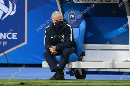 Didier Deschamps during the world cup qualification match between France and Ukraine