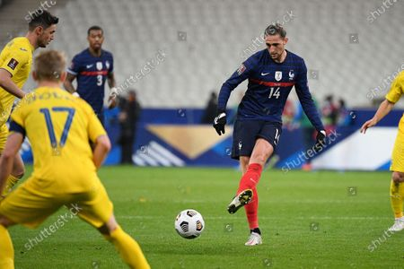 Adrien Rabiot during the world cup qualification match between France and Ukraine