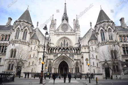 A view of the Royal Courts of Justice in London, Britain, 25 March 2021. US actor Johnny Depp has lost his attempt to appeal the verdict after he lost his case when suing The Sun's newspaper publisher News Group Newspapers (NGN) over claims he abused his ex-wife Amber Heard.