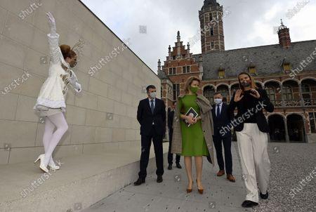 Editorial photo of Queen Mathilde of Belgium visits 'Children of the Renaissance', Mechelen, Belgium - 25 Mar 2021