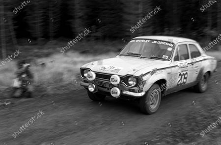 Stock Picture of NOVEMBER 22: Mike Whiteley / Jim Goodman, Ford Escort during the RAC Rally on November 22, 1975. (Photo by LAT Images)