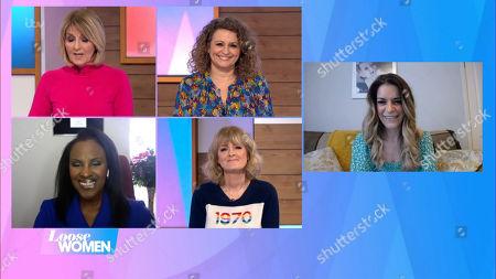 Stock Image of Kaye Adams, Nadia Sawalha, Jane Moore, Kelle Bryan, Gemma Oaten
