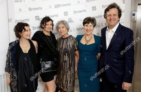 Natasha Collis, Charlie Collis, Joan Burstein, Caroline Burstein and Simon Burstein