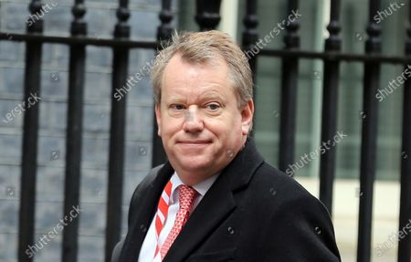 Stock Image of Cabinet Minister David Frost arrives in Downing Street.