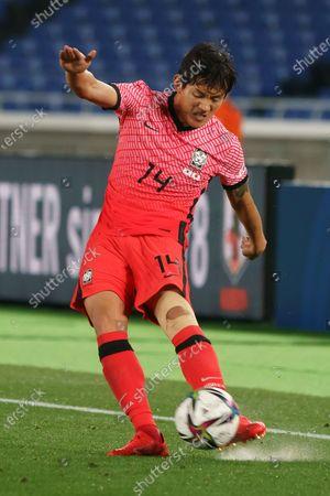 Editorial picture of Japan v South Korea, International Friendly Match, Nissan Stadium, Yokohama city, Kanagawa pref, Japan - 25 Mar 2021