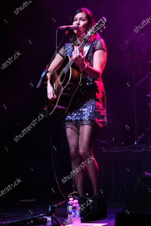 Stock Photo of Tristan Prettyman performs during Miracle on State Street presented by 101.9fm The Mix at the Chicago Theater