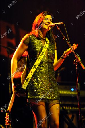 Stock Image of Tristan Prettyman performs during Miracle on State Street presented by 101.9fm The Mix at the Chicago Theater