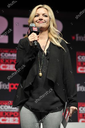 Clare Kramer attends the Chicago Comic and Entertainment Expo C2E2 at McCormick Place in Chicago, Illinois