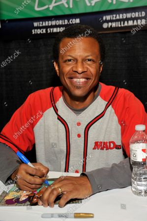 Stock Image of Phil LaMarr attends Wizard World Comic Con Fan Fest Chicago at Donald E. Stephens Convention Center