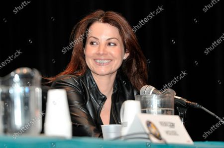 Stock Image of Erica Durance attends Wizard World Chicago Comic Con at the Donald E. Stephens Convention Center in Rosemont, Illinois