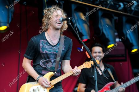 Casey James performs at Soldier Field in Chicago, Illinois