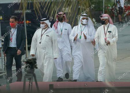 Prince Salman bin Hamad bin Isa Al Khalifa, Deputy King, Crown Prince of Bahrain (L)