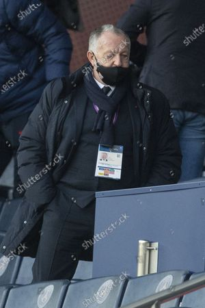 Jean-Claude Blanc Director PSG and Jean-Michel Aulas President of OL
