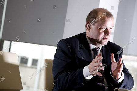 Editorial picture of Sigurdur Einarsson, Chief Executive of Icelandic bank Kaupthing, at their offices in London, Britain - 21 Apr 2008