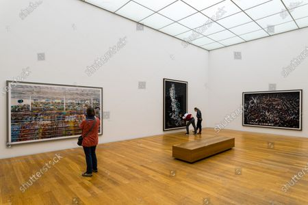 Editorial photo of Andreas Gursky photo exhibit in Leipzig, Germany - 25 Mar 2021