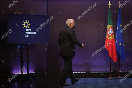 Portuguese Prime Minister, Antonio Costa, arrives for the press conference at the end of the European Council meeting, at Centro Cultural de Belem, Lisbon, Portugal, 25 March 2021.