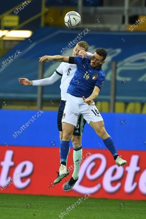 "Alessandro Florenzi (Italy)George Saville (Northern Ireland)          during the Fifa ""World Cup Qatar 2022 qualifying"" match between Italy 2-0 Northern Ireland  at  Ennio Tardini Stadium in Parma, Italy."