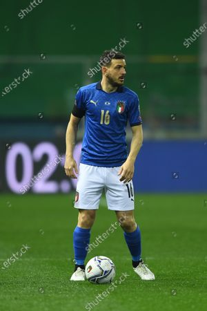 "Alessandro Florenzi (Italy)          during the Fifa ""World Cup Qatar 2022 qualifying"" match between Italy 2-0 Northern Ireland  at  Ennio Tardini Stadium in Parma, Italy."