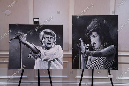 Some of John Douglas paintings, Delray Beach, FL.