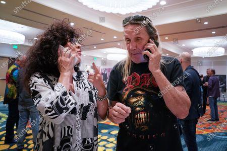 Singer Patti Russo, left, and Nicko McBrain, Delray Beach, FL.