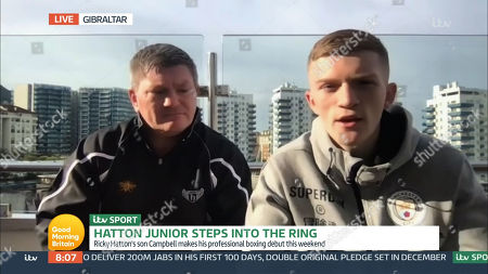 Stock Picture of Ricky Hatton and Campbell Hatton