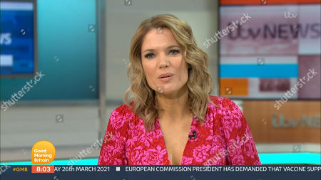 Editorial image of 'Good Morning Britain' TV Show, London, UK - 26 Mar 2021