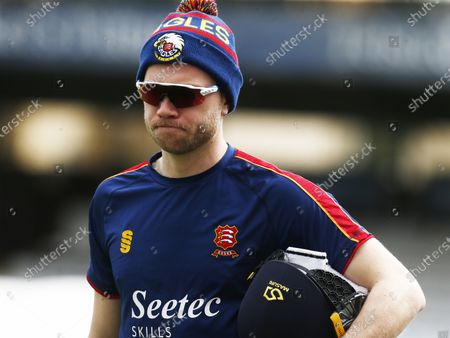 Essex's Simon Cook  during  Friendly  Day One of 2 match between Essex CCC and Lancashire CCC at The Cloudfm County Ground on 25th March , 2021 in Chelmsford, England