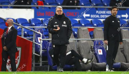 Stock Picture of Mexico manager Gerardo Martino gestures on the touchline