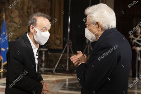 Editorial photo of Celebration of the 'Dantedì' for the 700th anniversary of the poet's death Dante Alighieri at Quirinale palace, Rome, Italy - 25 Mar 2021