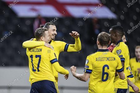 Stock Image of Zlatan Ibrahimovic and Viktor Claesson