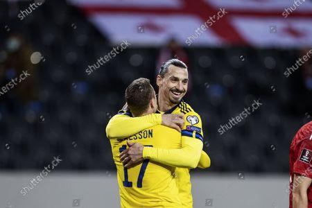 Zlatan Ibrahimovic and Viktor Claesson