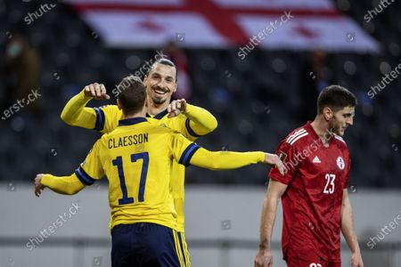 Editorial picture of Sweden v Georgia, FIFA World Cup Qualifier, Group A, Football, Friends Arena, Stockholm, Sweden - 25 Mar 2021