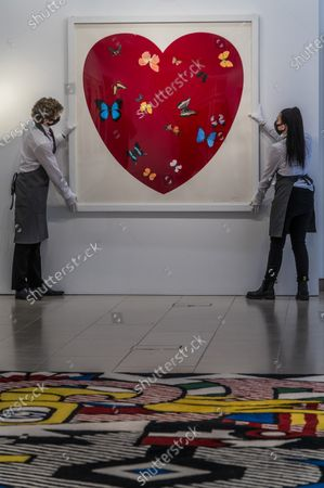 Editorial photo of Behind Closed Doors: Preparations at Christie's ahead of the Prints & Multiples and Banksy: I Can't Believe You Morons Actually Buy This Sh*T Online Sales., King Street, London, UK - 26 Mar 2021