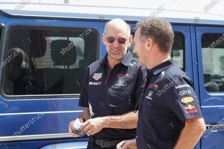 Christian Horner (gbr), Team Principal of Red Bull Racing, portrait, Adrian Newey, Chief Technical Officer of Red Bull Racing, portrait