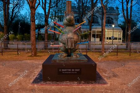 Editorial image of Philippe Geluck exhibits on the Champs-Elysees, Paris, France - 25 Mar 2021