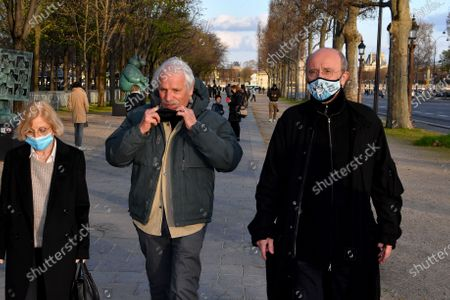 Editorial picture of Philippe Geluck exhibits on the Champs-Elysees, Paris, France - 25 Mar 2021