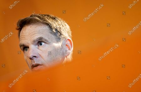 National coach Frank de Boer during a press conference in Zeist, The Netherlands,  26 March 2021. The Netherlands will face Latvia in their FIFA World Cup 2022 qualifying UEFA Group G soccer match on 27 March 2021.