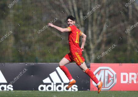 Stock Photo of Joe Adams celebrates scoring the first goal of the match